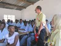 Active Aid in Africa in der Mpatsa Secondary School zu Gast, Malawi